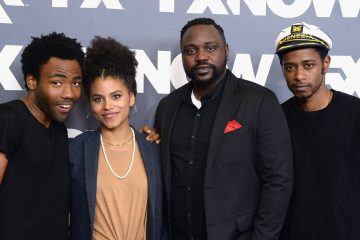 BEVERLY HILLS, CA - AUGUST 09:  (L-R) Actors Donald Glover, Zazie Beetz, Brian Tyree Henry and Keith Stanfield attend the FX Networks TCA 2016 Summer Press Tour on August 9, 2016 in Beverly Hills, California.  (Photo by Matt Winkelmeyer/Getty Images)